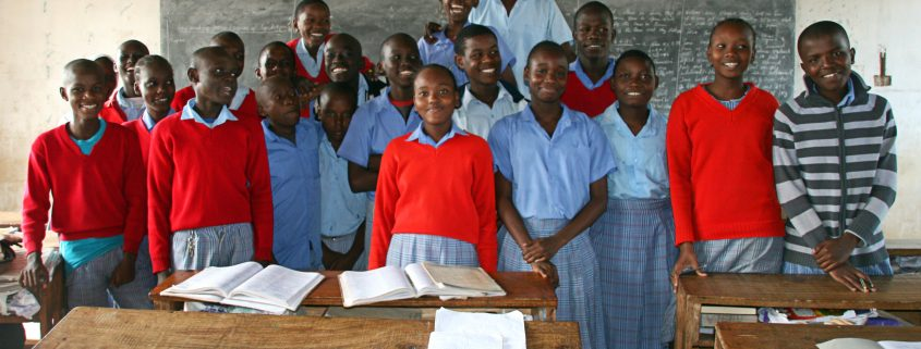 Year 8 students working towards KCPE