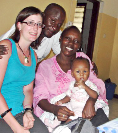 Bailey with Jacob, Brenda and their baby daughter, Marvel.