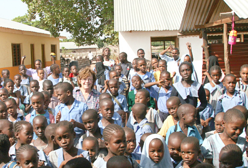 Judy Roper with the DGS children - March 2012
