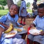 Children eating the special lunch