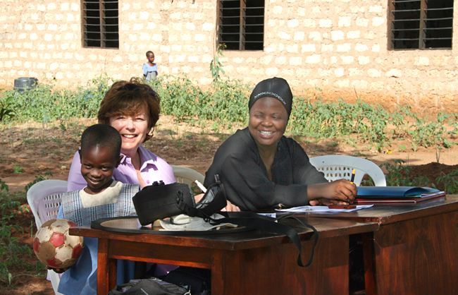 Judy with Masikah work on the sponsorship programme - August/September 2009