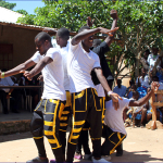 Abdalla, DGS gardener and cook, with his dance crew 'Kigoma'