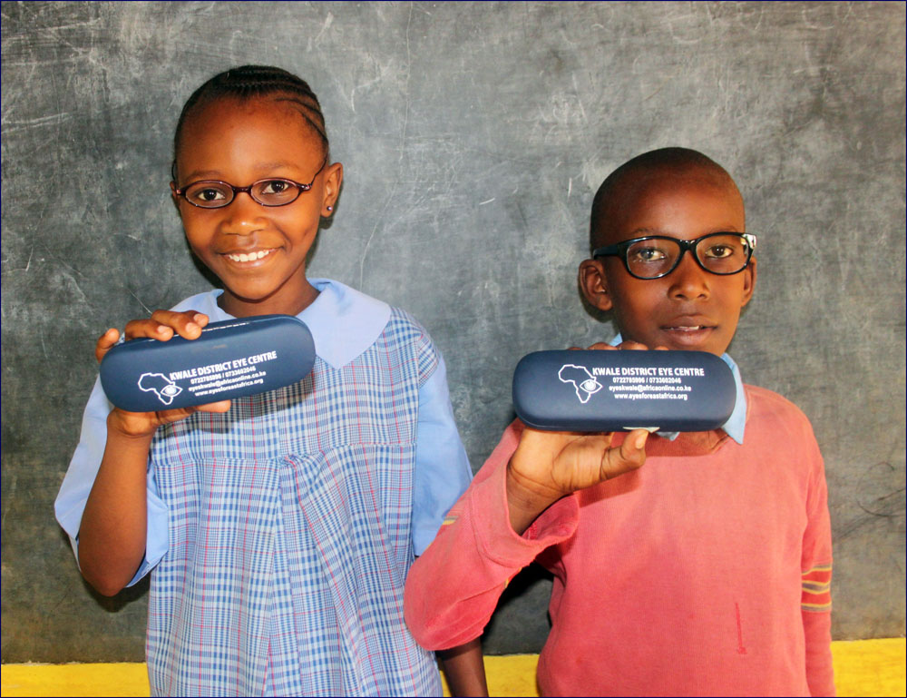 Mwanamvua and Omar with their new glasses