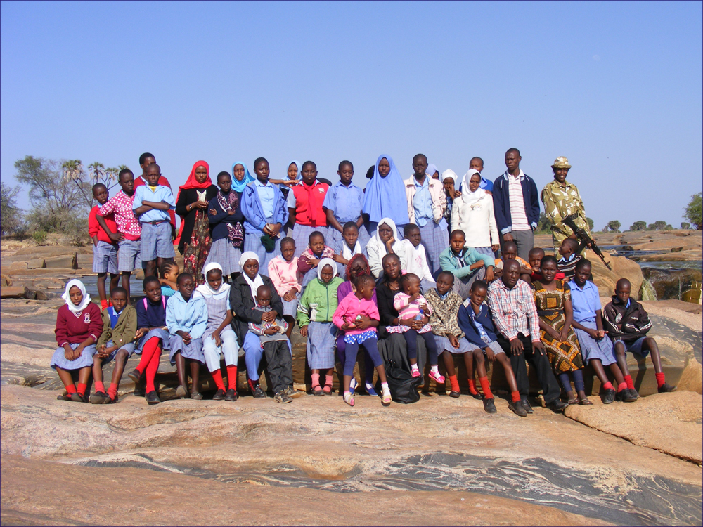 The whole team at Lugard falls