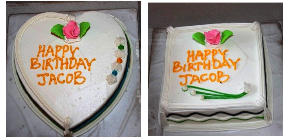 The birthday cakes
