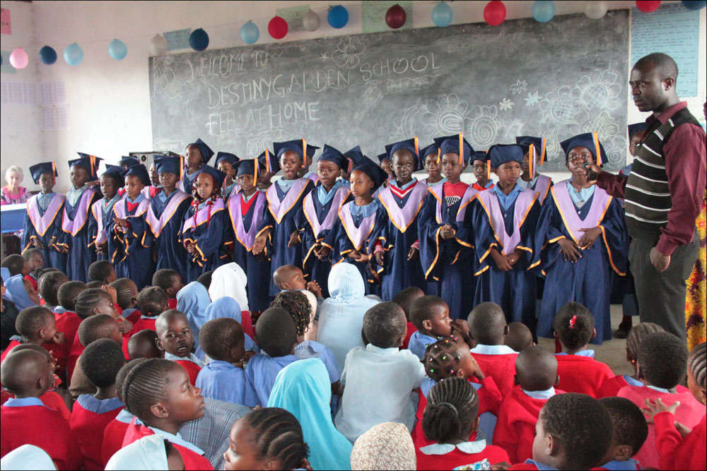 KG 3 graduates at the ceremony