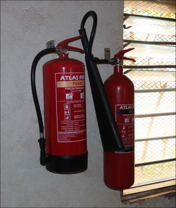 New fire extinguisher in the office