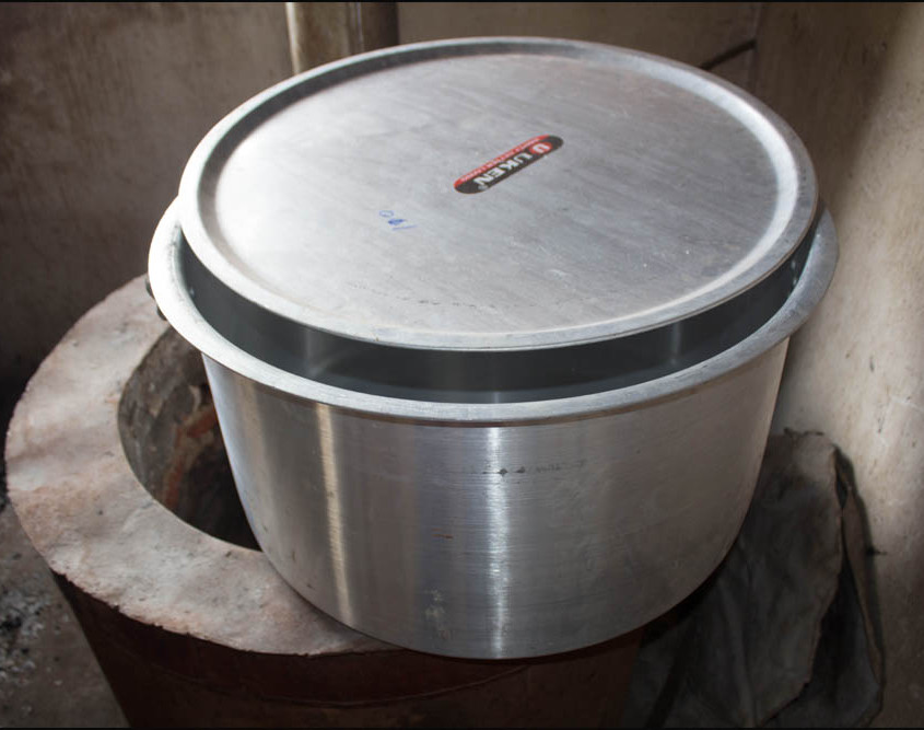The new cooking pot