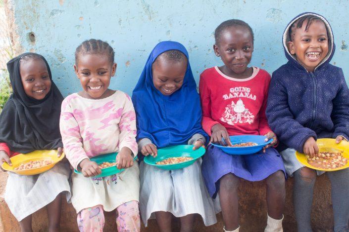 Children enjoy the delicious healthy meals