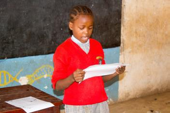 Children are proud to share letters from sponsors.